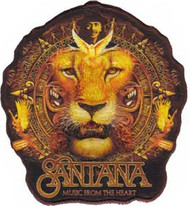 Santana Iron-On Patch Music From The Heart Lion Logo