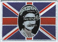 Sex Pistols Iron-On Patch Queen Flag Logo