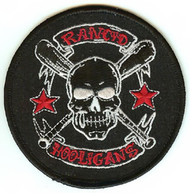 Rancid Iron-On Patch Round Hooligans Skull Logo