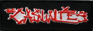 The Casualties Iron-On Patch Rectangle Letters Logo