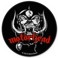 Motorhead Sew On Patch Round Skull Logo