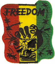 Rasta Iron-On Patch Freedom Logo