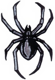 Spider Iron-On Patch Black Widow