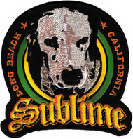 Sublime Iron-On Patch Round Dog Logo