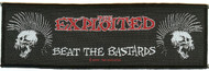 The Exploited Sew On Patch Beat The Bastards Logo