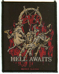 Slayer Sew On Patch Hell Awaits Logo