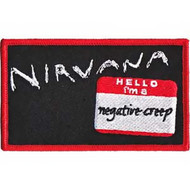 Nirvana Iron-On Patch Negative Creep Logo