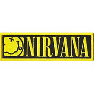 Nirvana Iron-On Patch Smiley Face Strip Logo