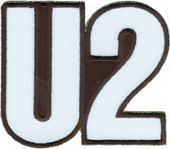 U2 Iron-On Patch White Logo