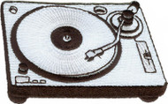 Turntable Iron-On Patch DJ Record Player