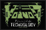 Voivod Sew On Patch Killing Technology Logo