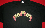 Guns n' Roses T-Shirt Scroll Logo Black Size Small