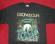 Stone Sour T-Shirt Band Photo Logo Black Size Medium