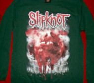 Slipknot Long Sleeve T-Shirt International Infection Green Size Medium