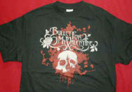 Bullet For My Valentine T-Shirt Rose Skull Black Size Medium