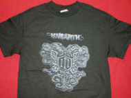 Unearth T-Shirt Shield Logo Black Size Medium