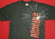 Bleeding Through T-Shirt Spider Web Logo Black Size Large