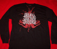 Bleeding Through Long Sleeve T-Shirt Black Size Medium