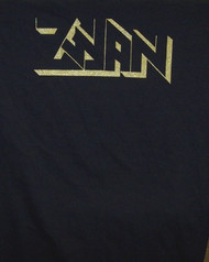 Zwan Long Sleeve T-Shirt Gold Logo Black Size Medium