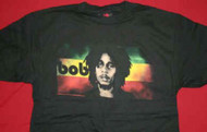 Bob Marley T-Shirt Face Logo Black Size Medium
