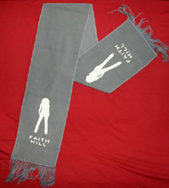 Faith Hill Scarf Silhoette Logo Grey