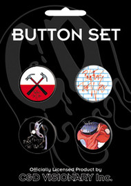 Pink Floyd Four Button Pin Set The Wall