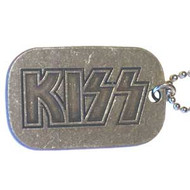 Kiss Dog Tags Letters Logo