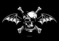 Avenged Sevenfold Poster Flag Skull Crossbones Bat Tapestry