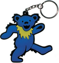 Grateful Dead Rubber Keychain Blue Dancing Bear