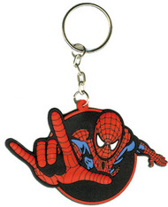 Spiderman Rubber Keychain Spidey Power