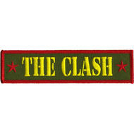 The Clash Iron-On Patch Rectangle Army Letters Logo