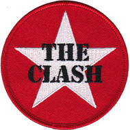 The Clash Iron-On Patch Round Star Logo