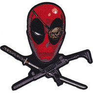 Deadpool Iron-On Patch Sword Gun Cross