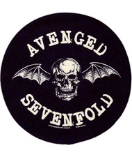 Avenged Sevenfold Sew On Canvas Back Patch Round Death Bat Logo