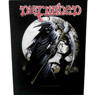 Disturbed Sew On Canvas Back Patch Reaper Logo