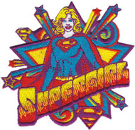 Supergirl Iron-On Patch Stars Logo