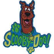 Scooby-Doo Iron-On Patch Paw Prints Logo