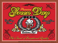 Green Day Vinyl Sticker Beer Label Logo