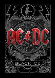 AC/DC Poster Flag Black Ice Logo Tapestry