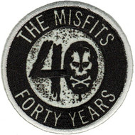 Misfits Iron-On Patch Round Forty Years Logo