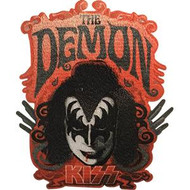 Kiss Iron-On Patch Gene Simmons The Demon Logo