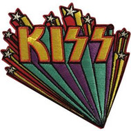 Kiss Iron-On Patch Stars Logo