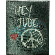 The Beatles Iron-On Patch Hey Jude Peace Logo