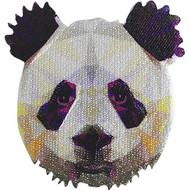 Geometric Animals Iron-On Patch Panda Bear