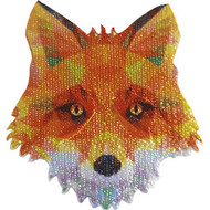 Geometric Animals Iron-On Patch Fox