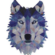 Geometric Animals Iron-On Patch Wolf