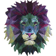 Geometric Animals Iron-On Patch Lion