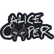 Alice Cooper Iron-On Patch White Letters Logo