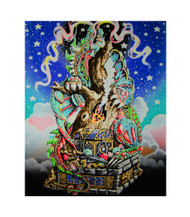 Guardian Dragon Blacklight Tapestry Cloth Wall Hanging