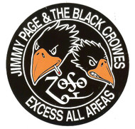 Jimmy Page And The Black Crowes Vinyl Sticker Excess Tour